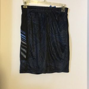 Boys black and blue Russell shorts
